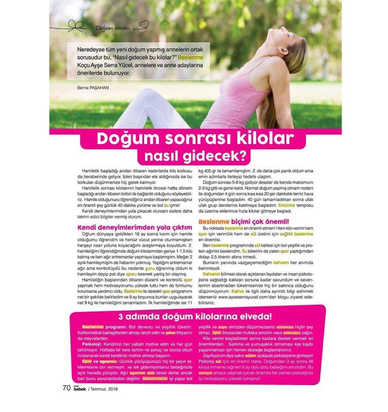 Ayşe Serra Yücel - Anne Bebek Dergisi