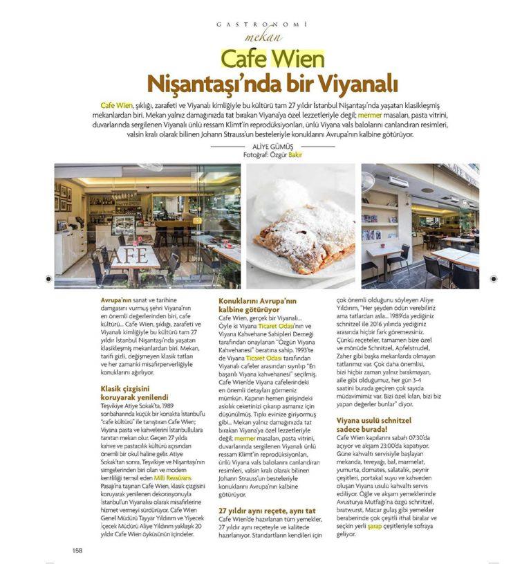 Cafe Wien - Gastronomi Dergisi